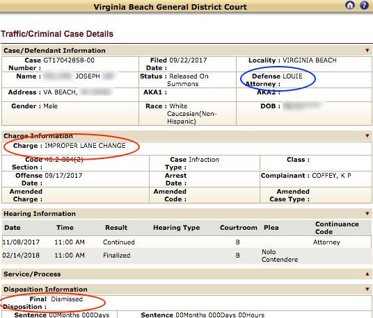 Virginia Beach Jail Docket