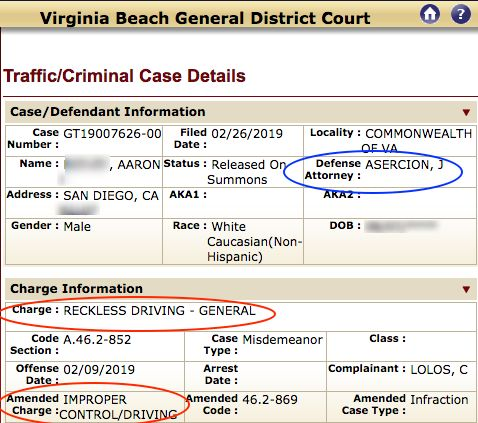 Mid February 2019 to April 2019 Case Results: Felony DUI